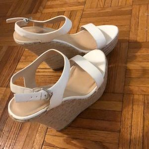 Charolette Russe White Wedges